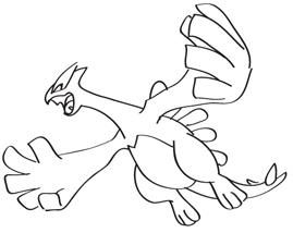 pokemon pictures to colour lugia flying google search
