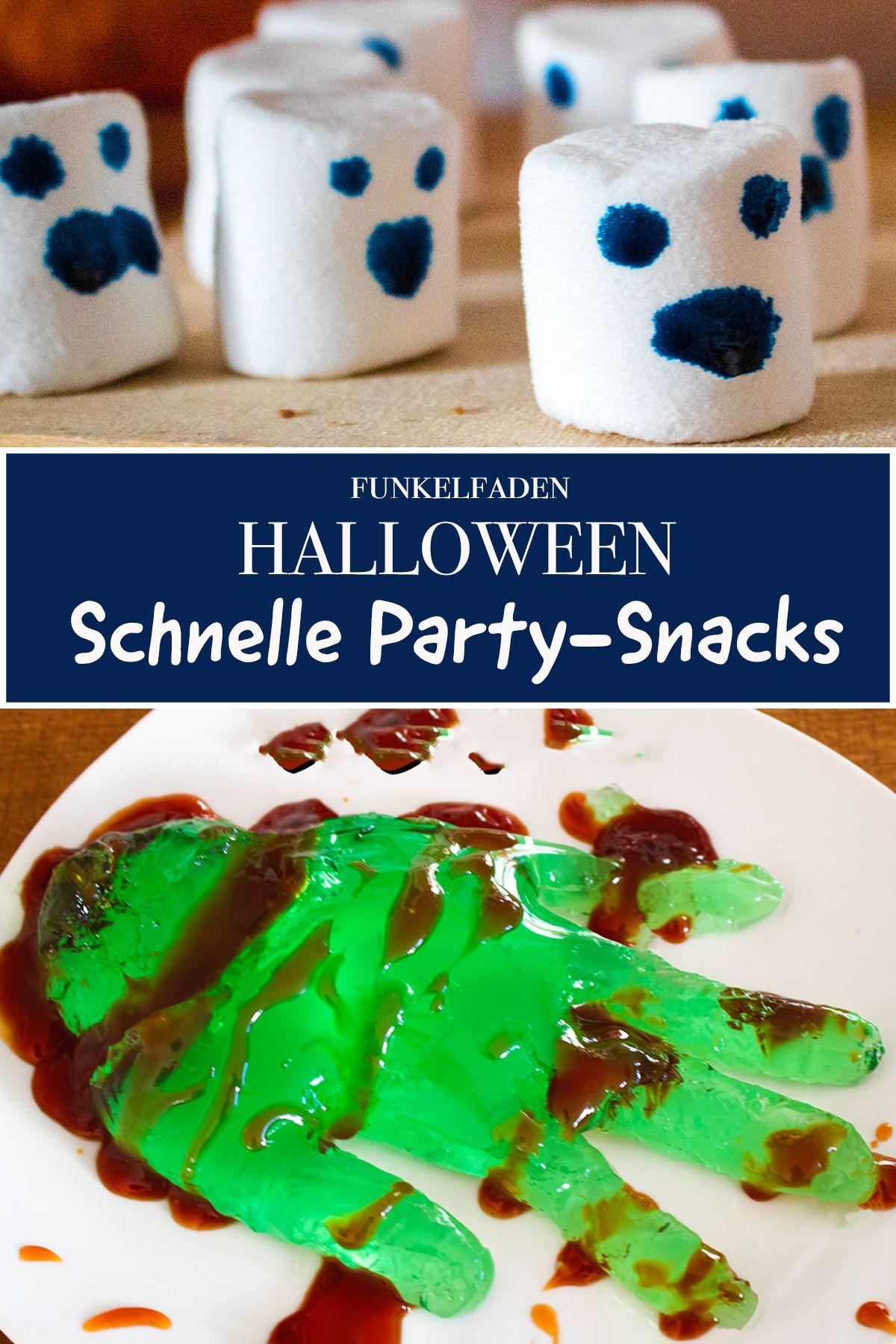 Halloween Rezepte Zum Trinken.Halloween Rezepte Wackeelpuddig Hand Und Marshmallow Monster Halloween Rezepte Halloween Essen Trinken Halloween Essen