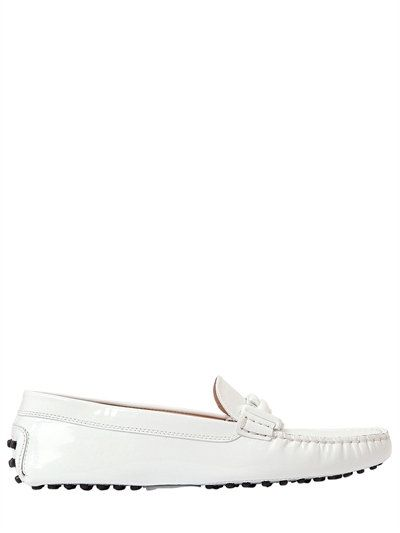 e2e060a9d9a TOD S Gommino Double T Patent Leather Loafers
