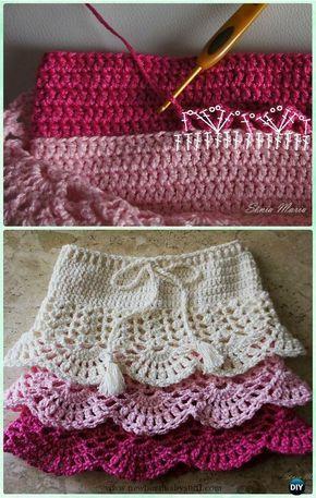 Crochet Baby Dress Crochet Layered Shell Stitch Skirt Free Pattern ...