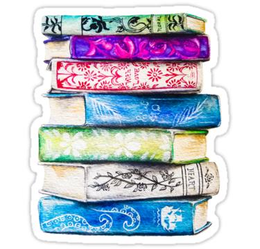 Pegatina Pila De Libros De Ang Frank Pegatinas Pegatinas Kawaii Pegatina De Libro