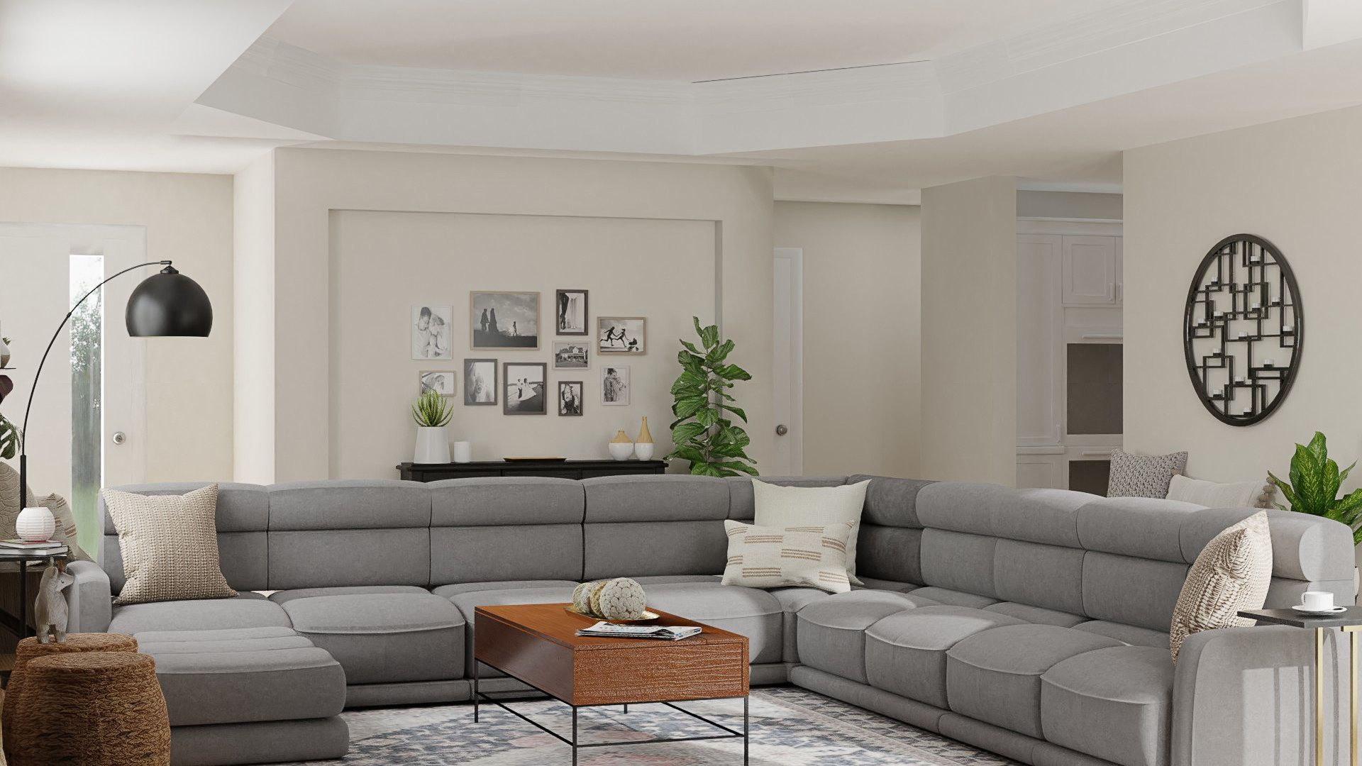 This guest friendly living room design incorporates an entryway bench where gue… in 2021 ...