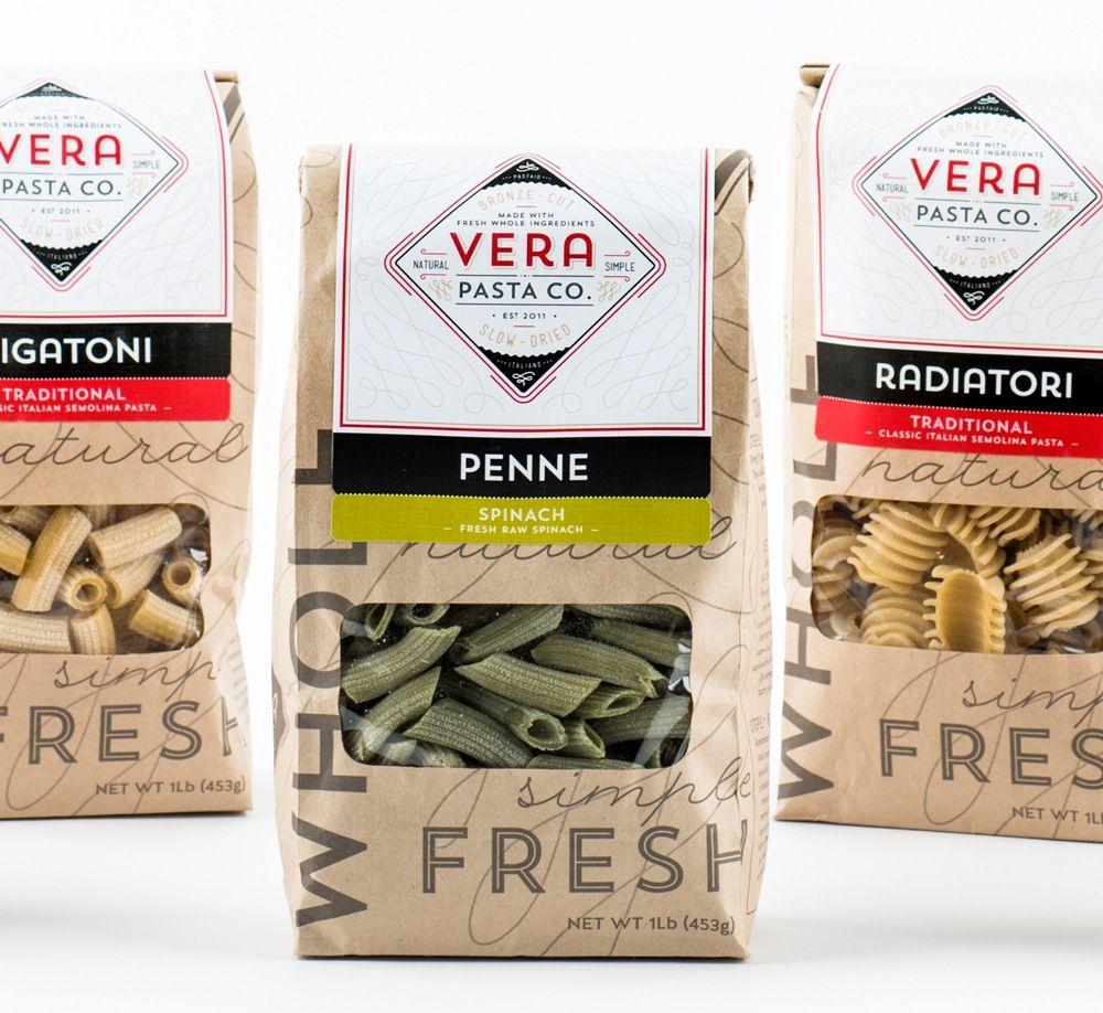 Vera Pasta Packaging Design Food packaging design