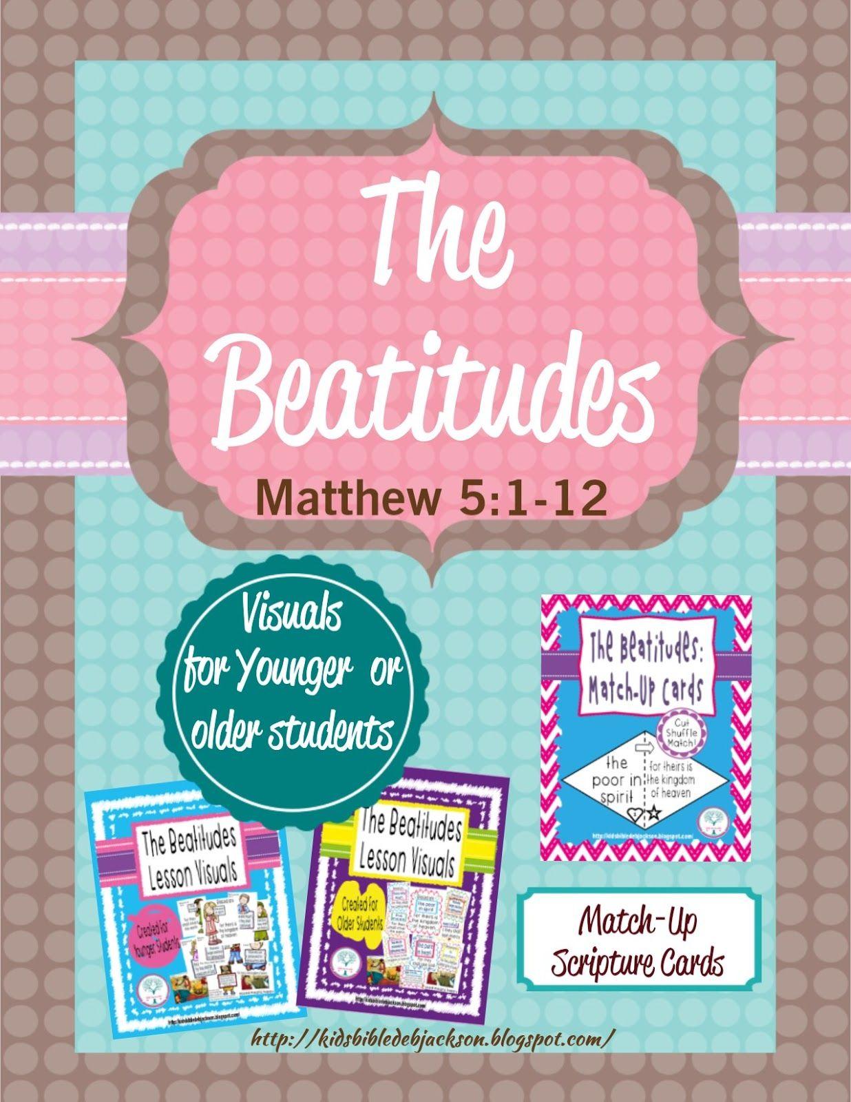 The Beatitudes lesson, visual & more | Bible: Jesus & the Beatitudes ...