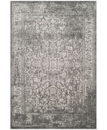 Safavieh Evoke Gray And Ivory 10 X 14 Area Rug Reviews Rugs Macy S Distressed Rugs Transitional Area Rugs Vintage Area Rugs