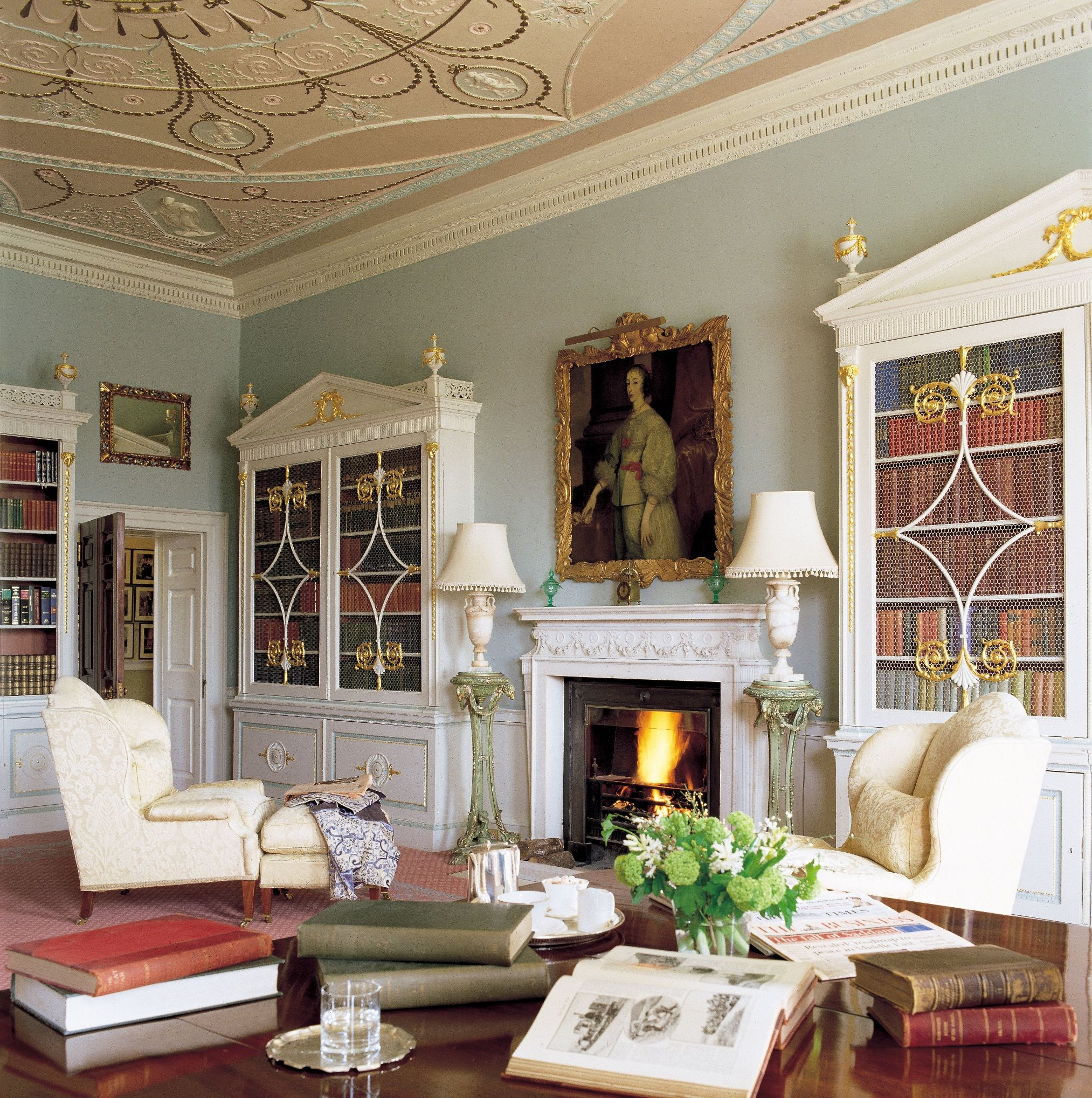 30 Classic Home Library Design Ideas Imposing Style: Library In Brocket Hall, Brocket Hall Estate