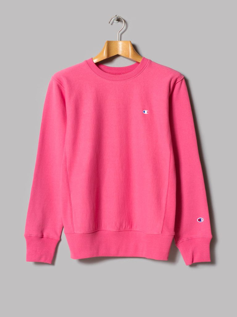 Champion Reverse Weave Crewneck Sweatshirt (Pink) | Mens fashion ...
