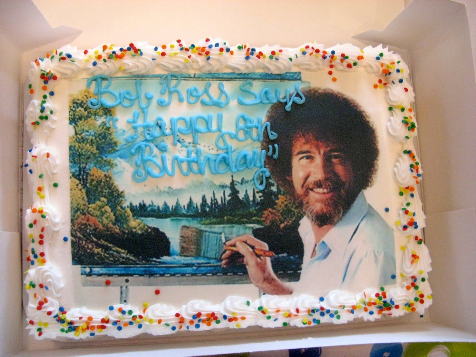 Fabulous Bob Ross Cake I Want For My Birthday Bob Ross Birthday Birthday Party Games 16th Birthday Party