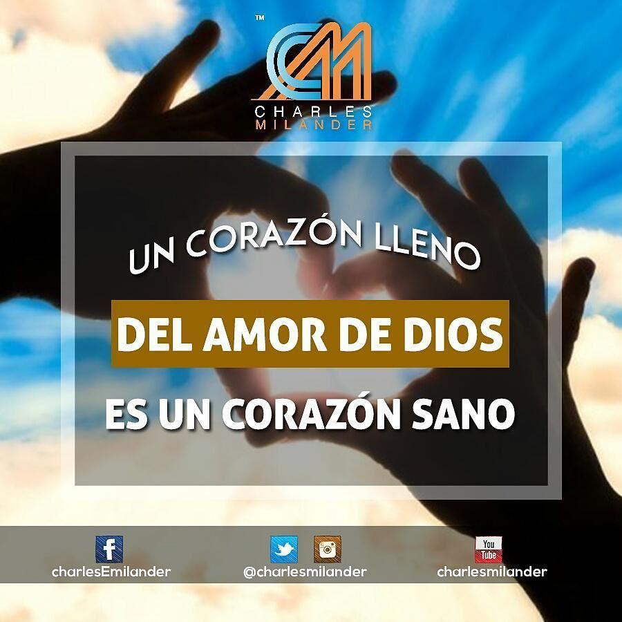 Un corazón lleno del amor de Dios  #orar #charlesmilander #insquote #felizdomingo #God #Dios  #Jesus #tecnologia