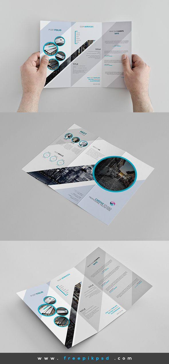 Free Creative Brochure Trifold Template On Behance Marketing