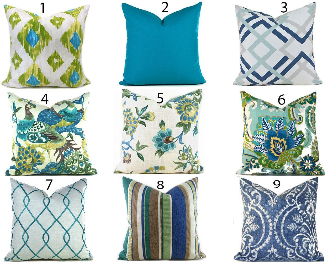 Pillow Covers ANY SIZE Decorative Pillows Pillow Inserts Best ...