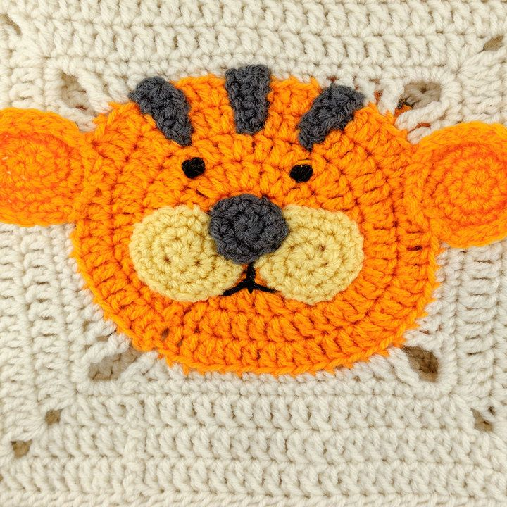 Lions and Tigers and Bears Blanket | Red Heart | Baby / Kids ...