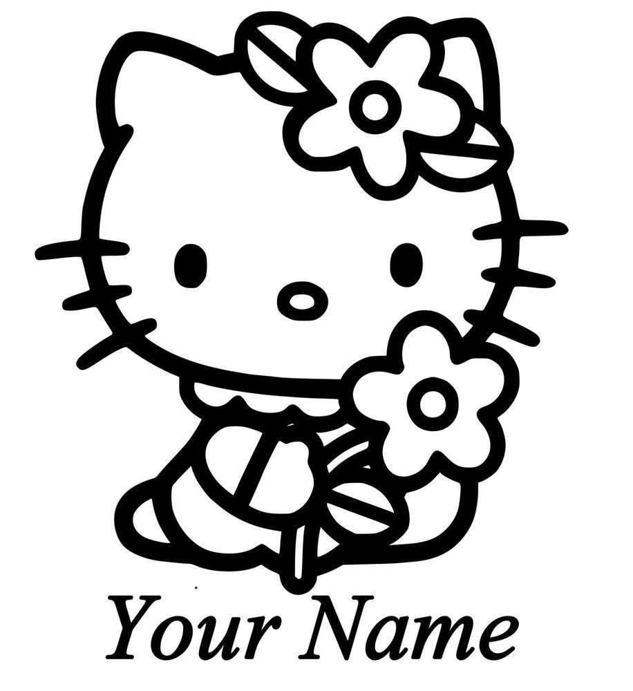 Hello Kitty Custom Vinyl Decal For Cars Windows Laptops Tablets And More Hello Kitty Coloring Hello Kitty Colouring Pages Kitty Coloring