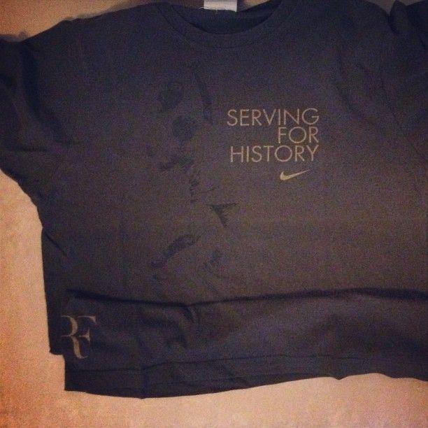 #RF #Shirt #Tshirt #T-shirt #tee #nike #niketennis #tennis #rogerfederer #federer #servingforhistory Serving For History