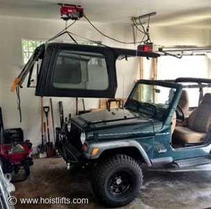 Jeep Wrangler Electric Hardtop Hoist Jeep Jeep Wrangler Tj Jeep Tj