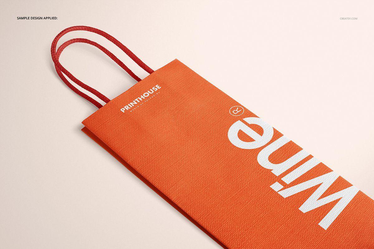 Download Eurotote Wine Tote Bag Mockup Set Wine Tote Bag Bag Mockup Tote Bag