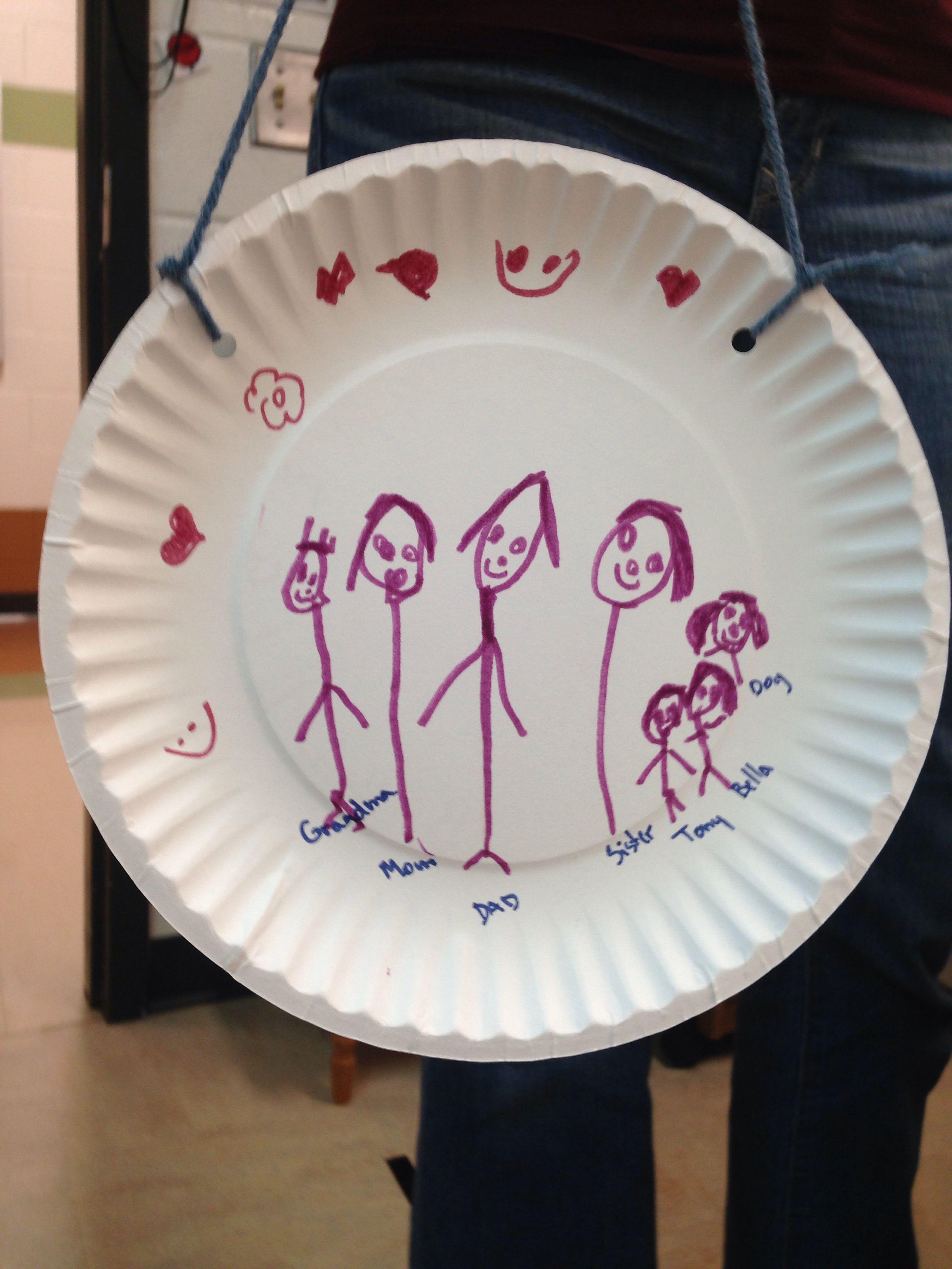 Family Portraits Preschool Art Project