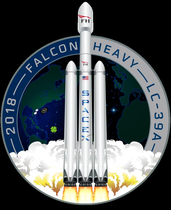 NEW Falcon Heavy Rocket Launch Spacex Elon Musk 2018 BLACK T-shirt SHIP FAST