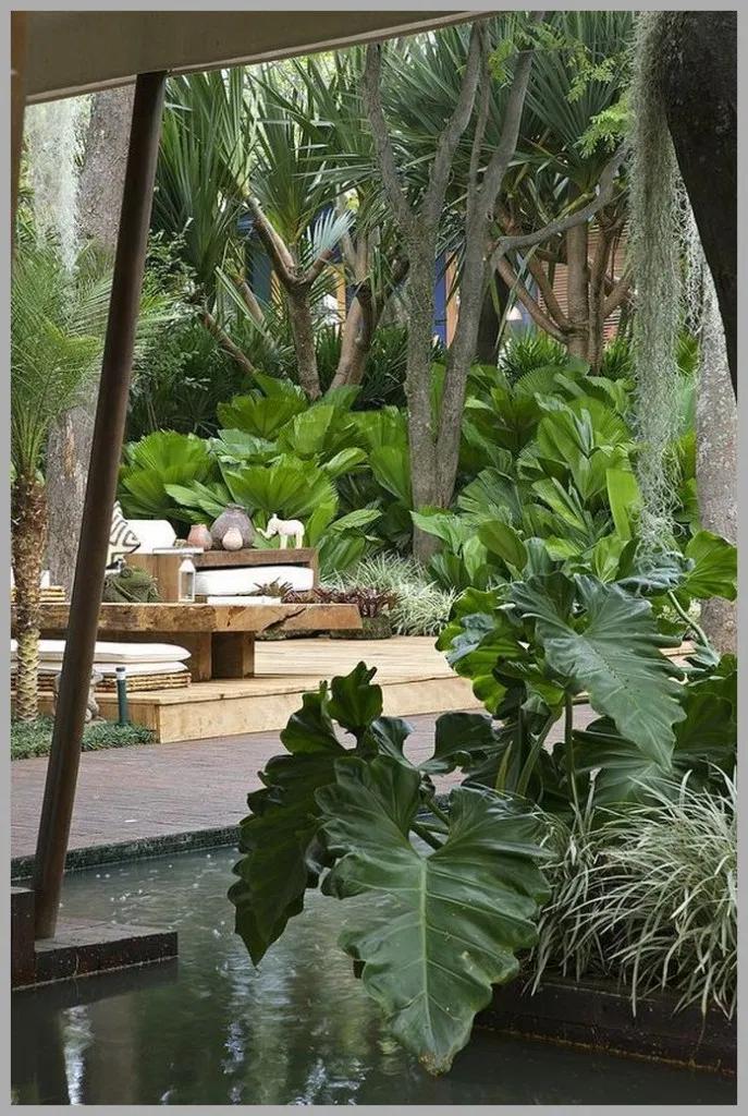 ❤25 Tropical Garden Design Ideas - Have A Holiday Resort Right At Home To Make Your Holiday More Fun #tropicalgarden #gardendesign #gardenideas #gardendecor #backyard #frontyard #sideyard #landscapinggarden | gaming.me #tropischelandschaftsgestaltung