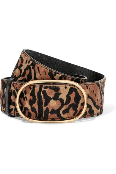 99fe2cfb8595 FRAME - Leopard-print calf hair belt in 2019 | Products