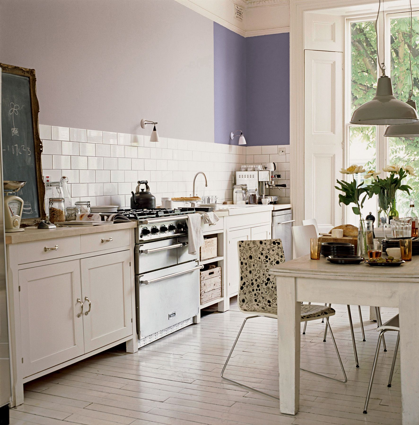3 Colors Option For Country Kitchen Wallpaper: Crown Kitchen And Bathroom Paint In Periwinkle