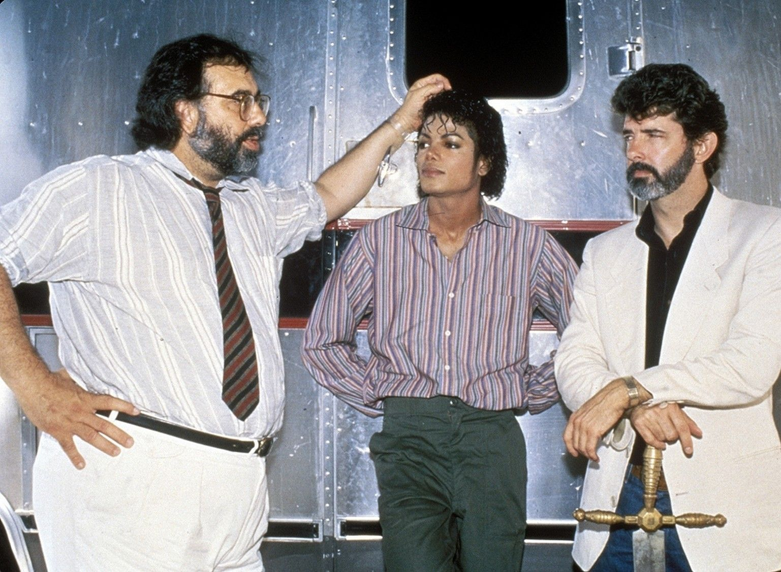 Francis Ford Coppola Michael Jackson And George Lucas Together