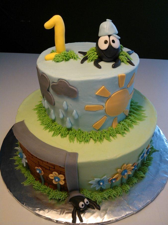 Itsy Bitsy Spider Cake Birthday idea Pinterest Spider cake