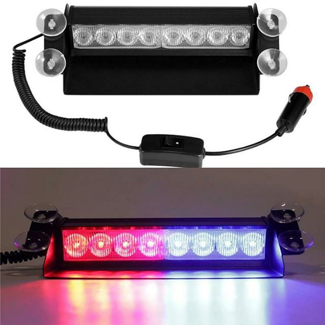 9 5 Inch Led Red Blue Emergency Strobe Light