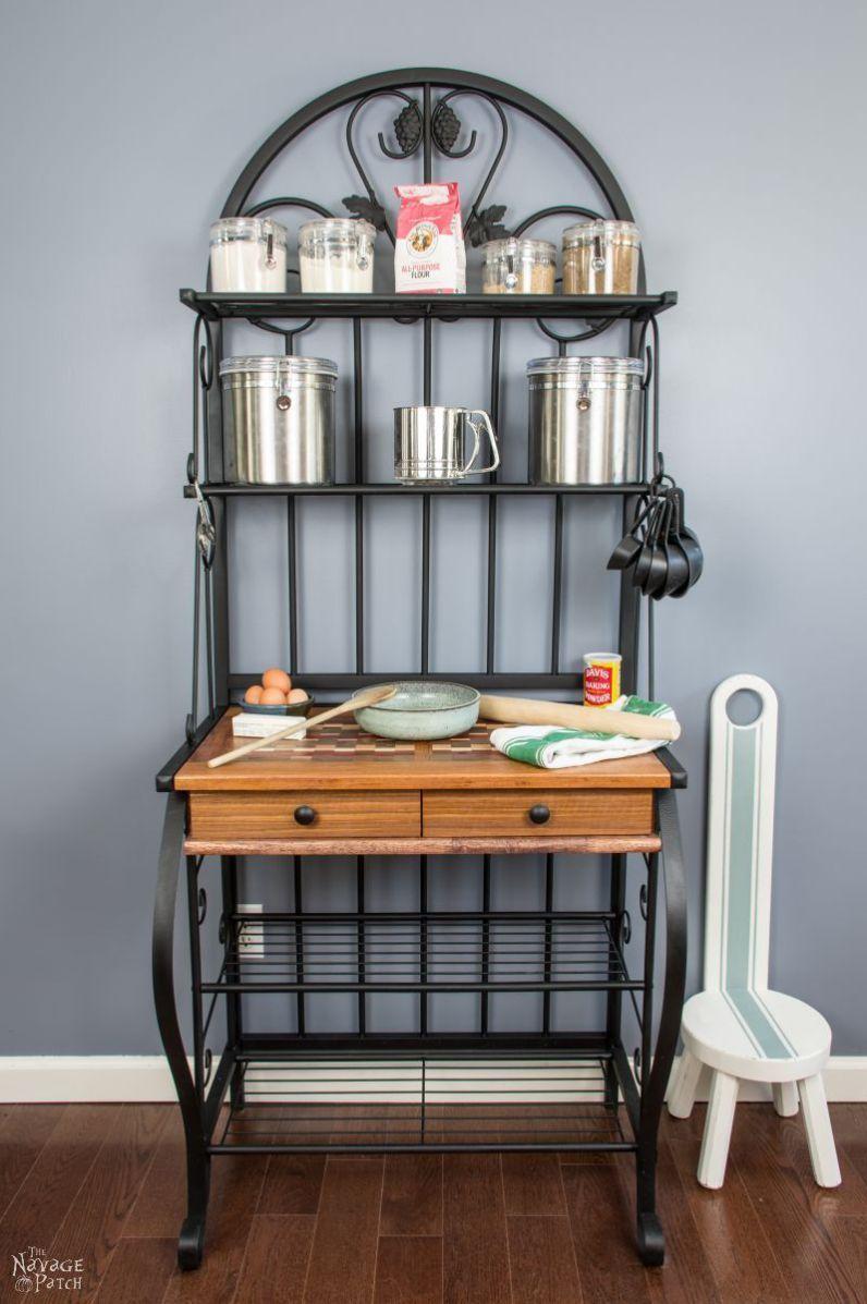 Baker S Rack Makeover With Images Diy Furniture Bedroom