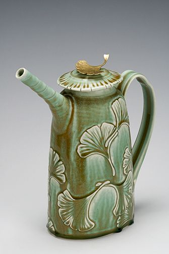 David Voorhees Pottery handmade porcelain with handpainted decorations on functional and decorative art pottery