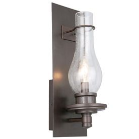 Portfolio 5-1/2-in W 1-Light Dark Oil-Rubbed Bronze Pocket Wall ...