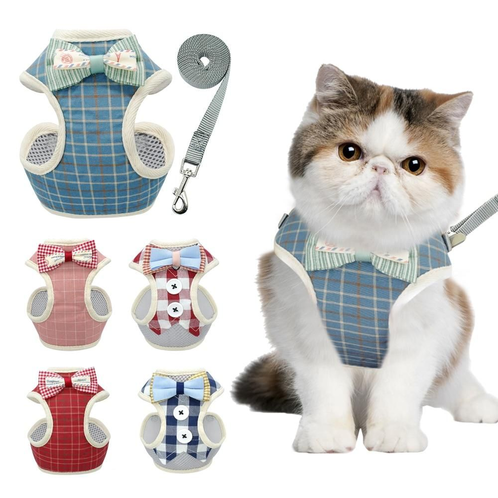 Cute Cat Harness And Leash Set Cat Collars Cat Harness Puppy Harness