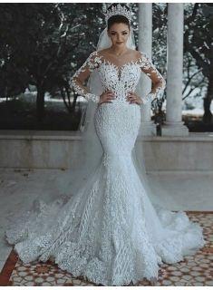 8e7de11418 Glamorous Long Sleeve Wedding Dress