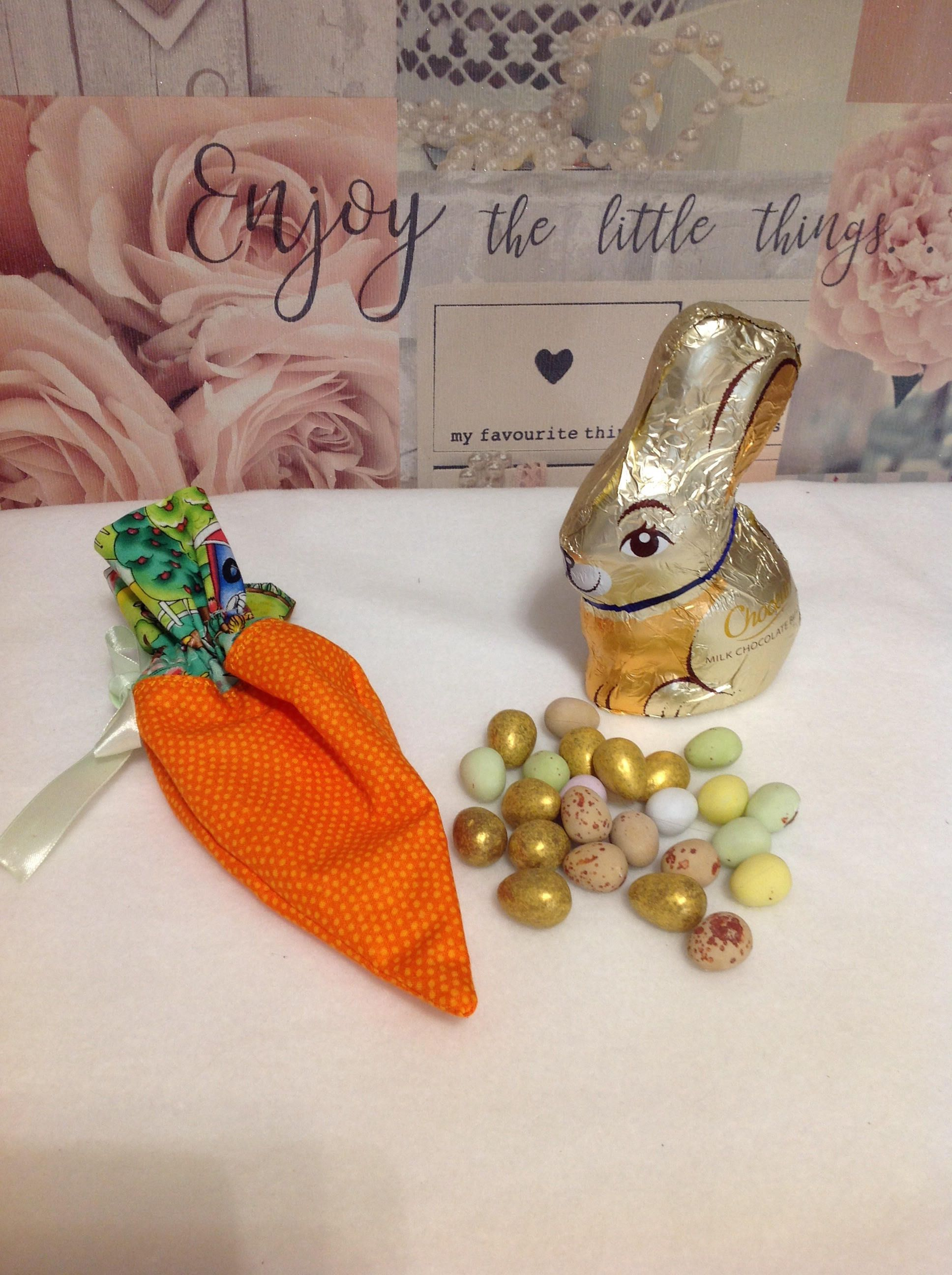 Easter carrot gift bag chocolates easter egg bag fabric easter carrot gift bag chocolates easter egg bag fabric carrot easter gift negle Images