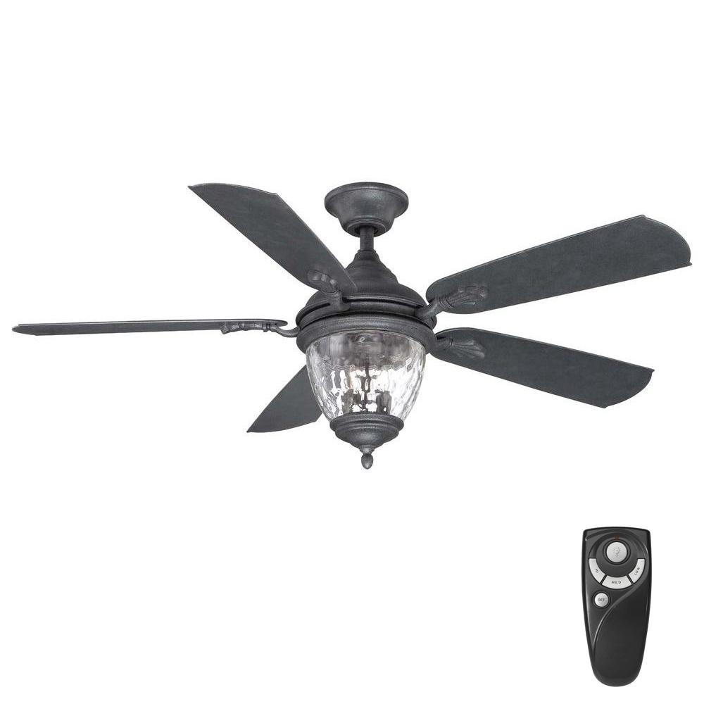 Home Decorators Collection Abercorn 52 In Indoor Outdoor Iron Ceiling Fan With Light Kit And Remote Control Ceiling Fan With Light Ceiling Fan Fan Light