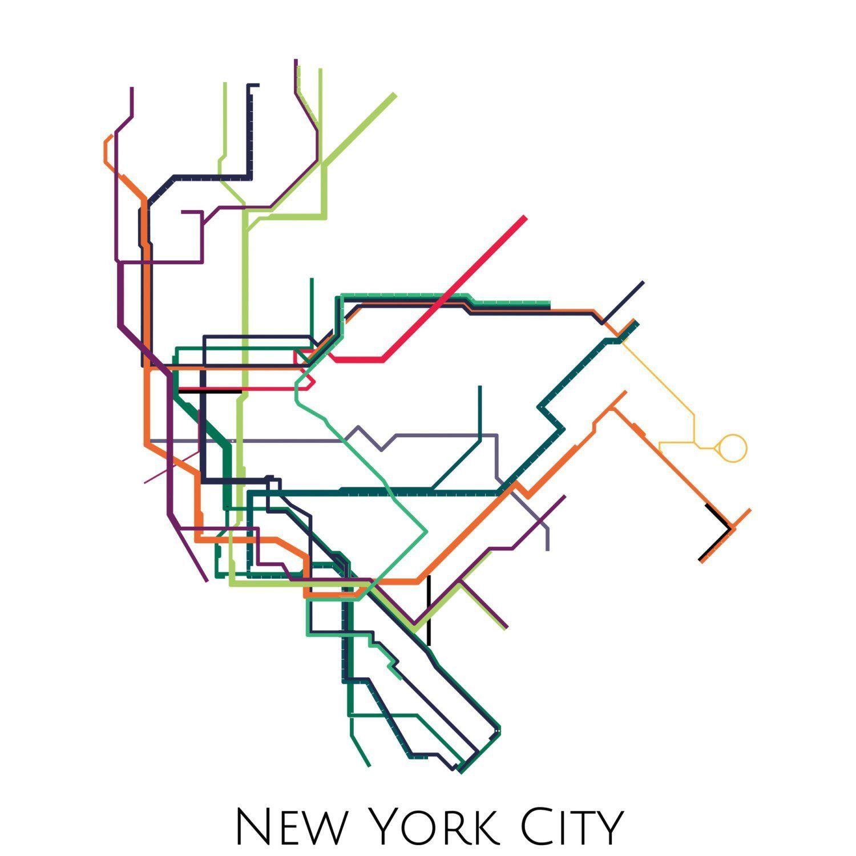 New York Metro Map | crafts and decorating | Pinterest | Subway map ...