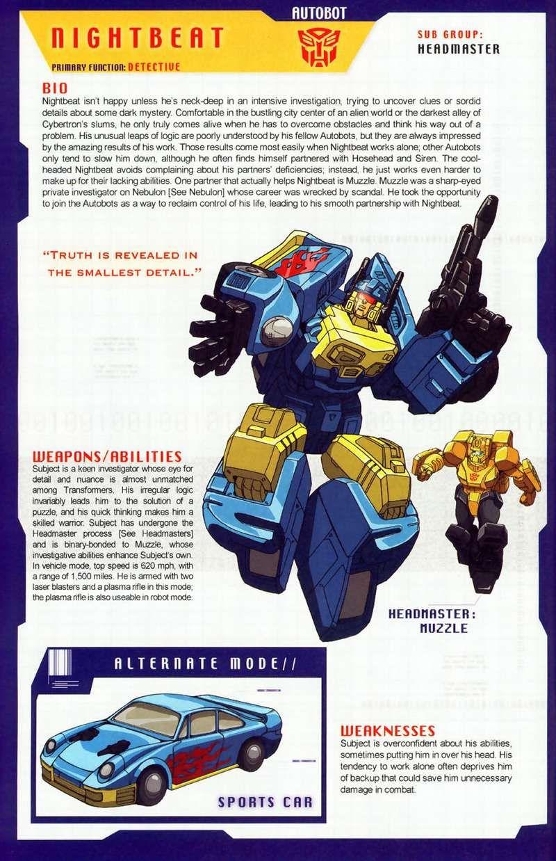 Nightbeat (Transformers) profile