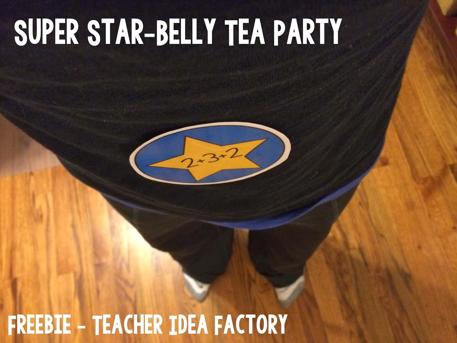 Star Belly Tea Party Idea Work On Addition Facts