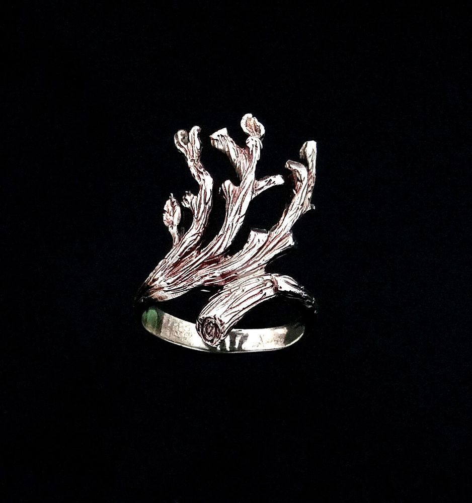 Details About Branch Ring, Leaf Ring, Sterling Silver Ring, Tree Ring,  Branch Jewelry