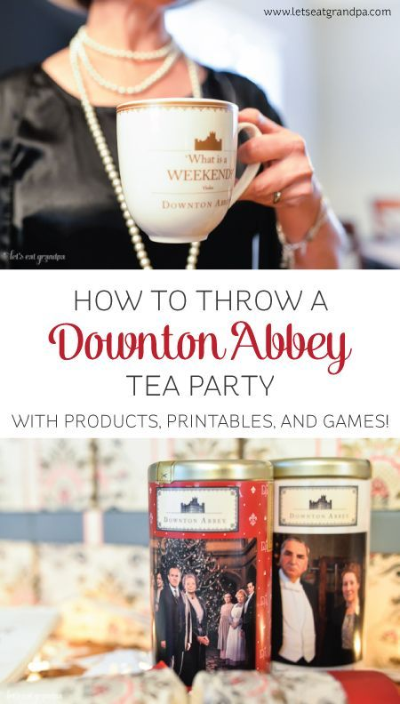 to Throw a Downton Abbey Tea Party Love Downton Abbey? @worldmarket has everything you need to throw a party with style!  Stop by to get free Downton Abbey printables and games, too!Love Downton Abbey? @worldmarket has everything you need to throw a party with style!  Stop by to get free Downton Abbey printables and games, too!