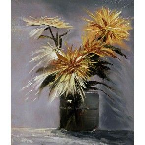 Market Flowers in a Jar Still Life