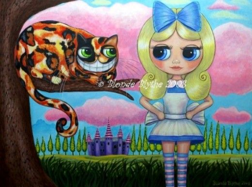 """""""Alice in Wonderland and the Cheshire Cat"""" © Blonde Blythe 2008"""