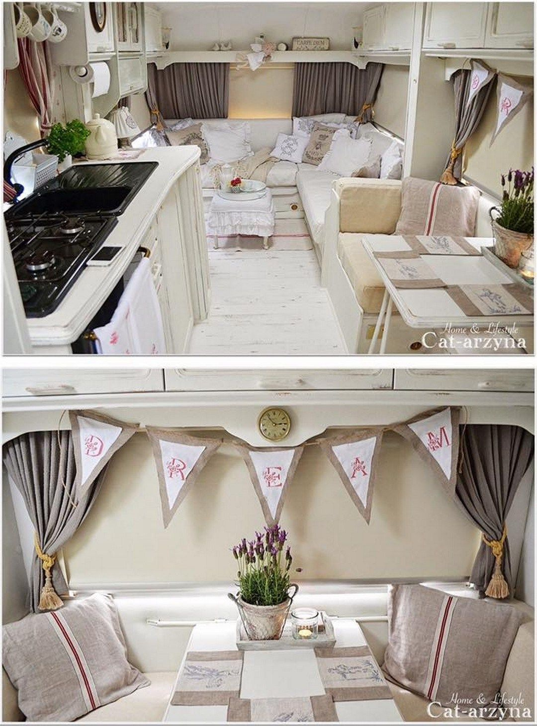 70 amazing rv camper interior design 69. Black Bedroom Furniture Sets. Home Design Ideas
