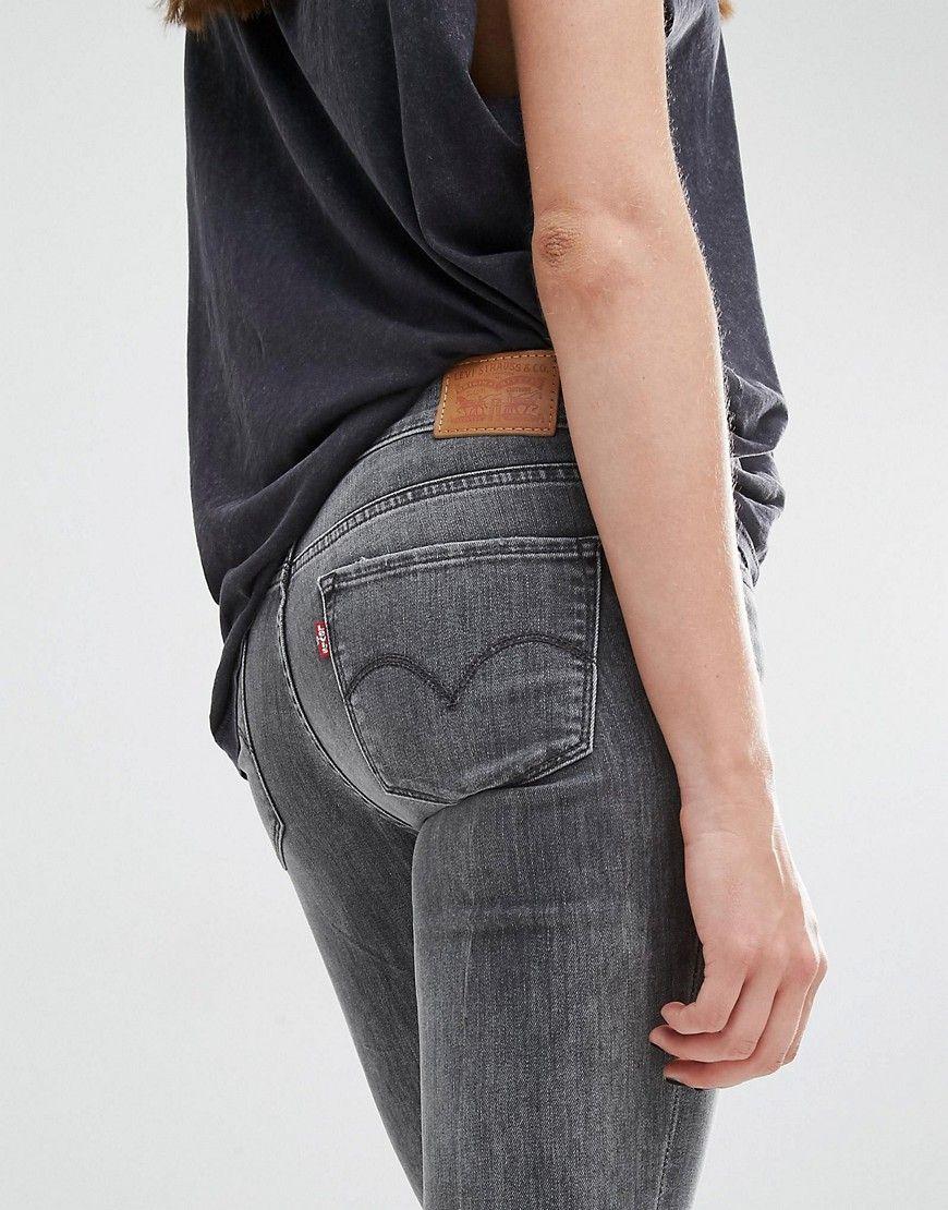 Womens grey levi skinny jeans