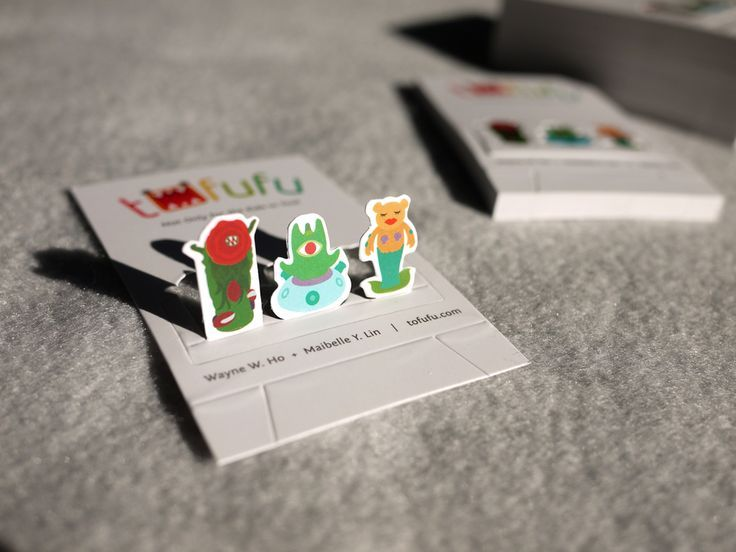 We Designed A Playful Pop Up Business Card That Can Be Folded And Converted Into Miniature Toy Shelf Featuring Three Tofufu Exclusive Characters