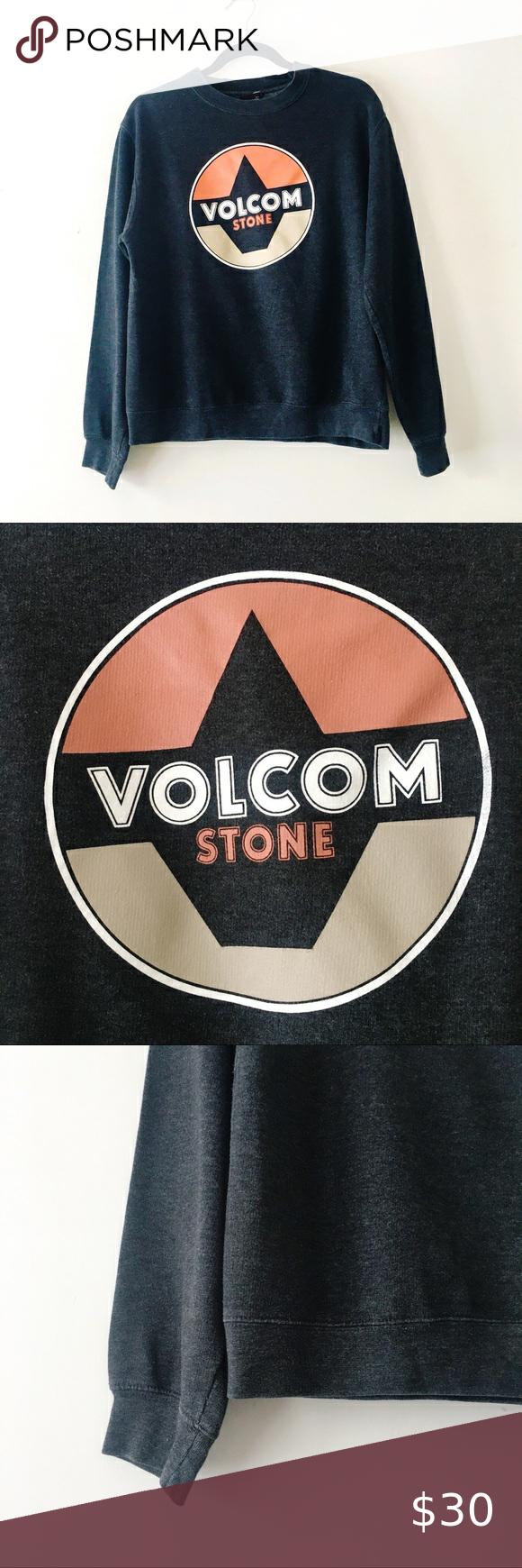Volcom Stone Dark Gray Crewneck Sweatshirt In 2021 Crew Neck Sweatshirt Sweatshirts Volcom [ 1740 x 580 Pixel ]