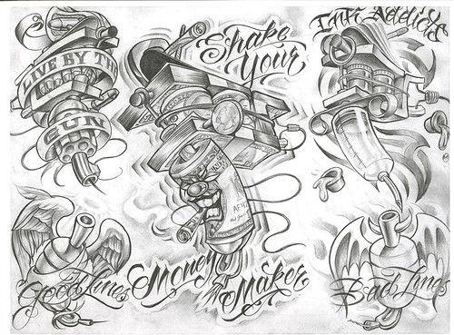 Chicano Tattoo Designs Tattoovoorbeeld Tattoo Design Drawings Tattoo Flash Art Sketch Book
