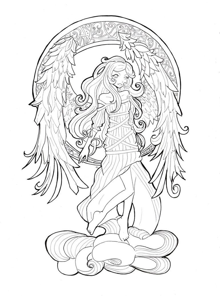Luna Line By Namtia On Deviantart Mermaid Coloring Pages Cool