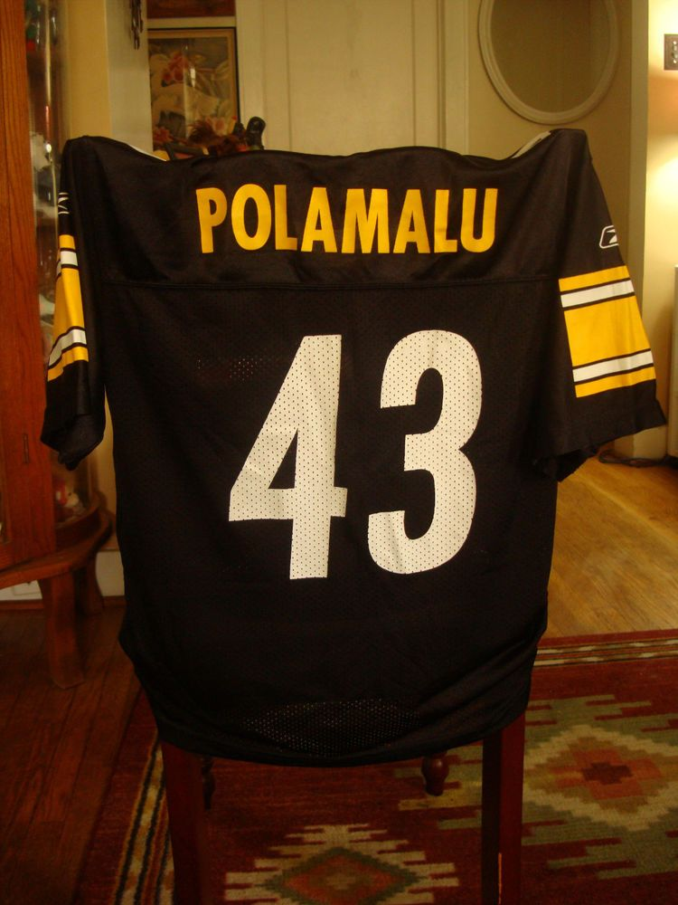 3b9d3c7a Official NFL Rebook Youth Large Size 14-16 Steelers #43 Troy ...