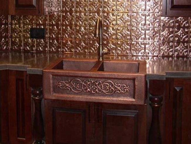 Mexican Style Copper Farm Sinks For Kitchens